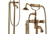 Clawfoot Bathtub Gold Antique Brass Floor Standing Clawfoot Bathtub Faucet Black