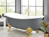 "Clawfoot Bathtub Length 72"" Lena Cast Iron Clawfoot Tub Monarch Imperial Feet"