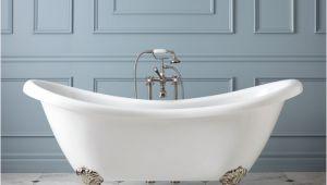 """Clawfoot Tub Acnl 69"""" Candace Acrylic Clawfoot Tub Imperial Feet Bathroom"""