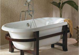 Clawfoot Tub Era Era Double with Modern Wood Frame and Legs