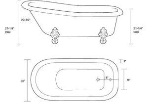 Clawfoot Tub Measurements Great Home Inspiration for Restoria Ambassador Classic