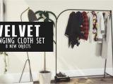 Clothes Hanger Rack Tumblr Velvet Hanging Cloths New Set