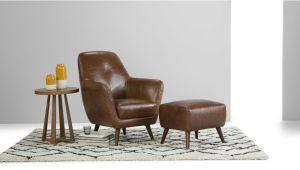 Cognac Leather Accent Chair Accent Chair Antique Cognac Leather Prado