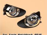 Colored Fog Lights 12v 55w Car Fog Light for toyota Yaris Hatchback 2012 Vitz 2013 2014