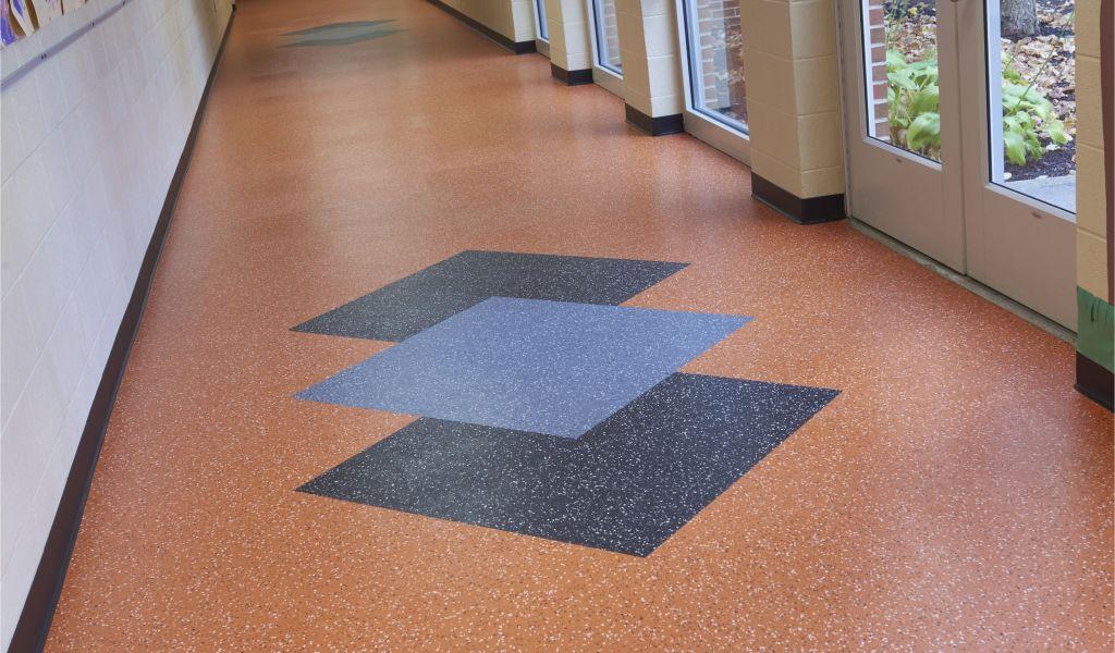 Commercial Rubber Flooring Roppe Custom Fiesta Rubber Tile In