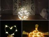 Construction Light String Cork Shaped String Lights Led Night Light Battery Powered Wine