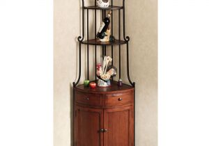 Corner Bakers Rack with Wine Storage Bakers Racks for Kitchens with Storage Marseille Corner Bakers