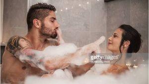 Couples Bathtubs Romantic Bubble Bath Stock S and