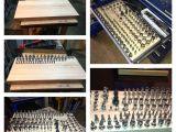 Craftsman 1/4 socket Rack socket organizer Made with Laminated Hard Wood tool organizers