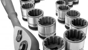 Craftsman 3/8 socket Rack Craftsman 19 Pc 3 8 Drive Universal socket Wrench Set
