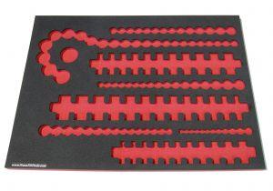 Craftsman 3/8 socket Rack Foam organizers for Shadowing Craftsman sockets