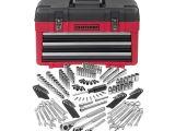 Craftsman socket Rack Set Craftsman 182 Pc Mechanics tool Set with 3 Drawer Chest Shop Your