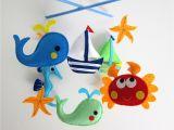 Crib Mobile with Lights Baby Crib Mobile Baby Mobile Felt Mobile Nursery Mobile