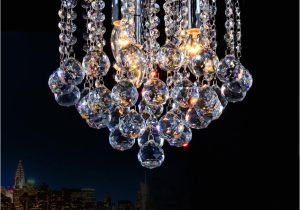 Crystal Light Coupons 2018 Crystal Chandelier Mini Light Fixture Small Clear Crystal