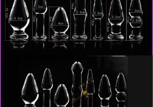 Crystal Light Coupons 7 Size Adult Games Crystal Glass Anal Plug Dildos Thrust Anchor ass