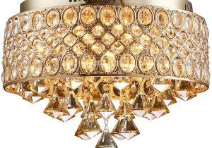 Crystal Light Coupons Flush Mount Gold Led Ceiling Lamp Led Crystal Lights E14 Bulb