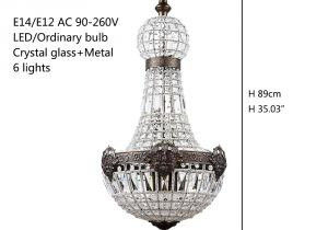 Crystal Light Coupons Retro French Empire Church Style Crystal Chandeliers Big E14 Led