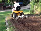 Cub Cadet Garden Tractor attachments Cub Cadet 1450 In Garden with Cultivator Youtube