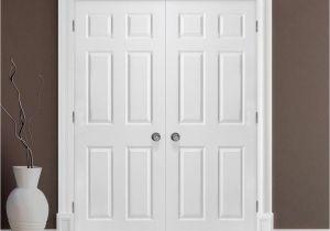 Custom Interior Closet Doors Masonite 48 In X 80 In Textured 6 Panel Hollow Core Primed