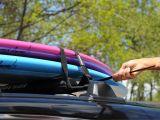 Dakine Surf Racks Dorsal Aero Rack Pads 28 Inch Wide 15 Ft Straps for Car Surfboard