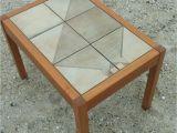 Danish Coffee Table Vintage Mid Century Modern Danish Gangso Mobler Teak Tile top Side