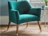 Dark Teal Velvet Accent Chair astoria Chair In Teal Velvet with Brass Caps