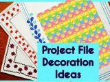 Decorative Computer Paper School Project File Design Decoration Ideas New 2017 Border Designs