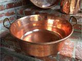 Decorative Copper Pots for Sale Large Antique English Copper Pot Vessel Jam Pan Brass Handle Farm