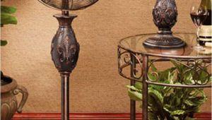 Decorative Pedestal Fans Deco Breeze Multi Colored 16 Inch Floor Fan Fleur De Lis Copper