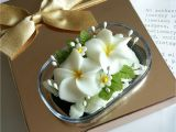 Decorative soap Bars for Sale Double White Plumeria Hand Carved In soap Bar with Jasmine Aroma
