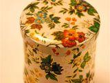 Decorative Tea Tins Vintage Tea Tin English Flowered Design by Lottalaceandvintage