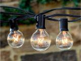 Deneve Lights 225ft 25 Bulbs String Lights Clear Globe G40 Bulb String Light Set