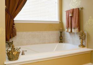 Design Ideas Bathroom Window Custom Made Window Treatments with Beaded Trim and Rosettes