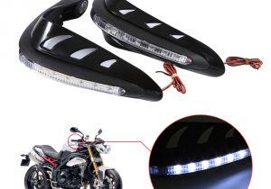 Dirt Bike Led Light Bar 1 Pair Universal Motorcycle Handguards Motocross Hand Guards One Set