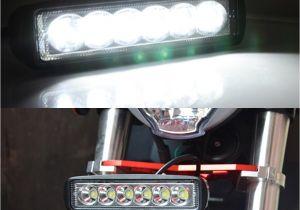 Dirt Bike Led Light Bar 1550lm Mini 6 Inch 18w 12v Led Work Light Bar Off Road Car Worklight