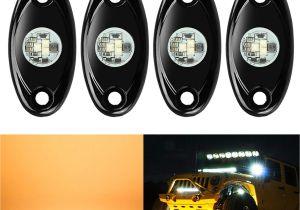 Dirt Bike Led Light Bar Amazon Com 4 Pods Led Rock Lights Kit Ampper Waterproof Underglow