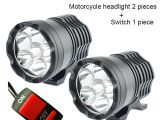 Dirt Bike Led Light Bar Motorcycle Led Headlights 12v 60w 10000lm U2 Led Motorbike Beam