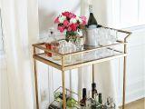 Diy Bar Cart with Wine Rack Diy Faux Marble Bar Cart Makeover Pinterest Gold Bar Cart Bar