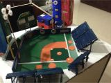 Diy Baseball Field Rug Baseball Stadium Project Kids Project Pinterest Craft