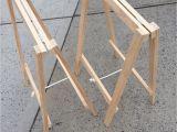 Diy Collapsible Saddle Rack soho Trestle Table Trestle Tables soho and Woods