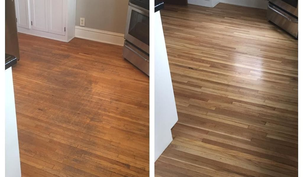 Diy Deep Clean Hardwood Floors Before And After Floor Refinishing