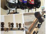 Diy Motorcycle Tire Rack Homemade Motorcycle Helmet Rack organizers Gear Pinterest