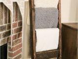 Diy Wooden Blanket Rack Diy Blanket Ladder Just 12 for This Super Easy Wooden Ladder
