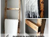 Diy Wooden Blanket Rack Rustic Blanket Ladder Rustic Blankets Blanket Ladder and Blanket