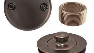 Drain Kit for Bathtub Oil Rubbed Bronze Lift and Turn Tub Drain Bathtub