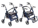 Drive Medical Duet Rollator Transport Chair Combo Drive Medical Duet Dual Function Transport Wheelchair Rollator