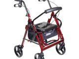 Drive Medical Duet Rollator Transport Chair Combo Drive Medical Duet Transport Wheelchair Rollator Walker Burgundy
