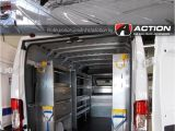 Drop Down Ladder Racks for Vans Promaster Van with Shelving and Double Drop Down Ladder Rack by