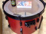 Drum Set Lights Old Junk Drum Repurposed as End Table Woodworking Pinterest