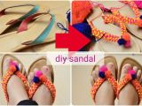 Easy Flip Flop Decorating Ideas How to Convert Revamp Recycle Old Sandals Flipflop Into New Diy Pom